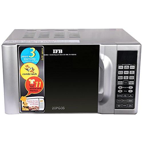 IFB 20PG3S 20-Litre 1200-Watt Grill Microwave Oven (Metallic Silver)