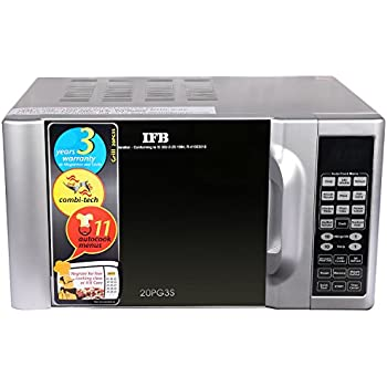 Ifb 20 L Grill Microwave Oven 20pg3s Metallic Silver