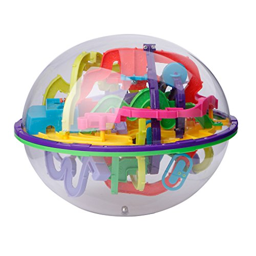 Dabixx Puzzle Toy, 299 Barriere 3D Magic Intellect Ball Balance Labirinto Gioco Puzzle Globe Toy Kid Gift