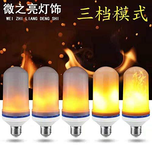 Burg 3 Licht Kronleuchter (Flammenlicht dynamisches Fackellicht blinkender Lichteffekt führte Birneflammbirne, Leistung: 3W, regelmäßiger fertiges Produkt)