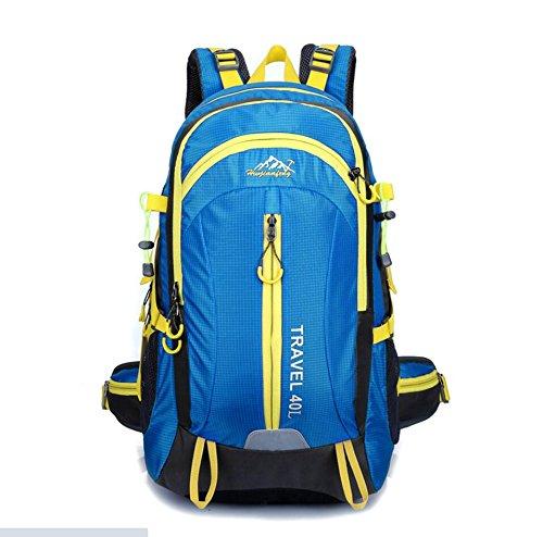 LQABW Reisen Im Freien Frauen 40L Antike Professionelle Mountaineering Schulter Männer Tasche Wasserdicht Atmungsreisewanderrucksack Blue