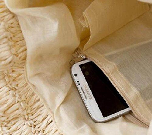 College Hand Häkeln Umhängetasche Strohbeutel Gewebte Tasche Sen Department Freizeit Handtaschen Beige