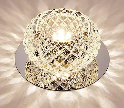ZUEN Moderner Kristallleuchter, Dimmable Crystal Ceiling Light Flush Mount Colorful Aisle Lights Crystal Corridor Lights Colorful Ceiling Lampe,B - Crystal Ceiling Mount