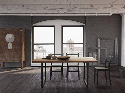 Altacom Esstisch Carrara | Tisch | Küchentisch | Eiche Massiv | 180cm Ausziehbar 230/280