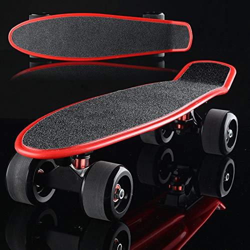 ZXCVB Skateboard Retro Cruiser Board Erwachsene Anfänger Kinder Professionelle Leuchtpinsel Street Quad Bike Scooter,O