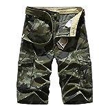 Cystyle Herren Cargo Shorts Bermuda Kurze Hose Sport Outdoor Camouflage Sommerhose (40W=Taille 110 Hüfte132, Stil 2)