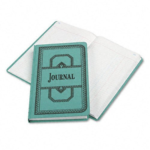 Record/Account Book Journal Rule Blue 500 Pages 12 1/8 x 7 5/8 by Boorum & Pease 7.625