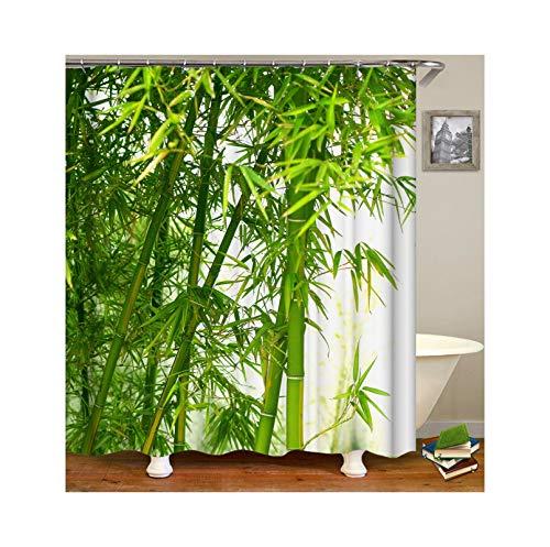Beydodo Wasserdicht Duschvorhang Antischimmel Bambus Wald Vintage Duschvorhang 180x180 cm