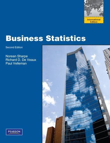 Business Statistics with MML/MSL Student Access Code Card (for Ad Hoc Valuepacks) by Norean D. Sharpe (2010-12-01)