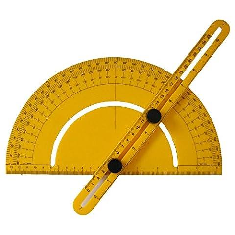 Okeeca ABS multi-angle Outil de mesure de la Règle pliable