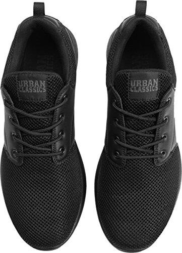 Urban Classics Unisex-erwachsene Scarpa Leggera Runner Low-top Schwarz (blk / Blk 17)