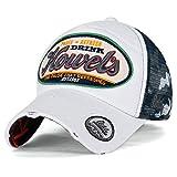 ililily Howel's Tarnkleidung (Camouflage) Baseball Netz Cap abgenutztes Aussehen klassischer Stil Trucker Cap Hut, White
