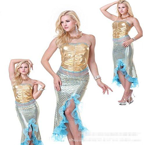 (Gorgeous Meerjungfrau Kleid Abendessen Göttin Diskothek Leistungskleidung Halloween-Kostüme Film)