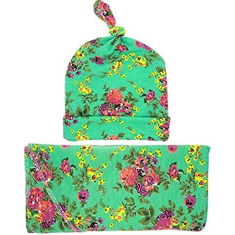 Kingko® Bambino cappello di cotone di inverno dei ragazzi delle ragazze Bambino Crochet cappelli lavorati a maglia Beanie Cap asciugamani di stoffa Blanket Wrap Fotografia Props