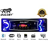 Dulcet DC-A-4003 Double IC High Power Universal Fit Mp3 Car Stereo with Bluetooth/USB/FM/AUX/MMC/Remote & Built-in Equalizer with Bass & Treble Control [Also, Includes a Free 3.5mm Aux Cable]