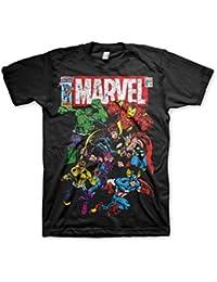 Officiellement Marchandises Sous Licence Marvel Comics Marvel Comics - Team-Up 3XL,4XL,5XL Hommes T-Shirt (Noir)