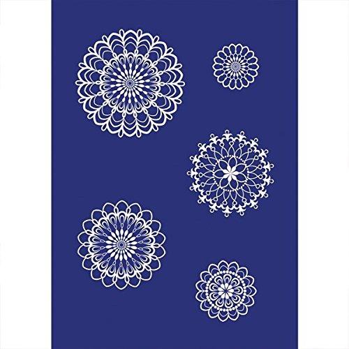 RAYHER 45082000 Stencil a forma di rosone, DIN A4, con raschietto, 1 pz