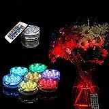 hunpta Wasserdicht Tauchpumpe 10LED-Licht RGB für Vase Hochzeit Party Fisch Tank Dekore