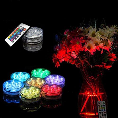 auchpumpe 10LED-Licht RGB für Vase Hochzeit Party Fisch Tank Dekore ()