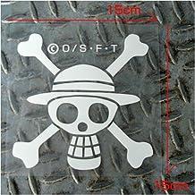 One Piece Luffy Pirata de la bandera etiqueta de corte (jap n importaci  3bb25112d9e