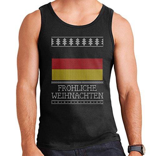 Germany Flag Christmas Knit Men's Vest Black