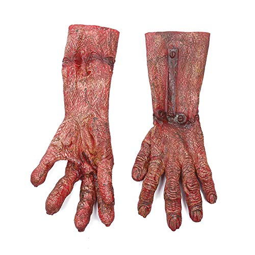 Kostüm Umweltfreundliche - Halloween Kostüm Party Requisiten Hochwertige umweltfreundliche Latex Material Terror Devil Cosplay Zombie Blut Handschuhe