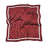 HIDOUYAL 70x70cm Bandana Polka Dots Schal Halstuch Kopftuch Tasche Dekoration Scarf mit Punkten