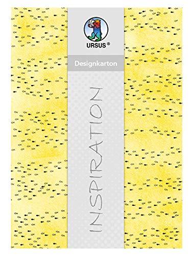 Ursus 62414601F Halleluja - Cartón de diseño, 200 g/m², 5 Hojas, DIN A4, Color Amarillo