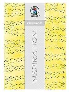 Ursus 62424601F Halleluja - Cartón de diseño, 200 g/m², 25 Hojas, DIN A4, Color Amarillo