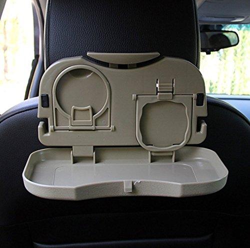 1x Tisch für Autorücksitz GRAU - KLAPPTISCH & MEHRZWECKTISCH - Spieltisch - Esstisch Ausklappbar für Getränke und Mahlzeiten im Auto - INION® (1x Rücksitztisch GRAU)