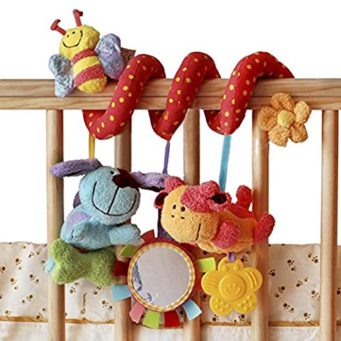 Stillcool Baby cot mobiles dog bee with Mirror Bell Baby