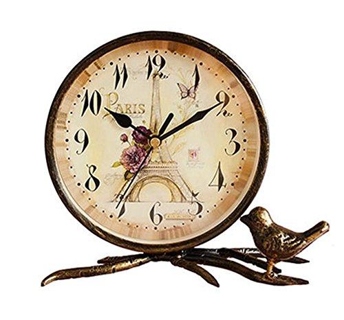 S.W.H Simple de Bronce Decorativa de Mesa de Cobre Reloj de Hierro...
