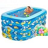 Inflatable Bath Home Aufblasbare Badewanne Badewanne für Kinder Aufblasbare Badewanne für Erwachsene Whirlpool Familienbad Babybadewanne (Farbe: Blau, Größe: 140 * 95 * 75cm)