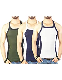 Zimfit Men's Gym Vest Pack Of 3 (Green_Navy_Grey)
