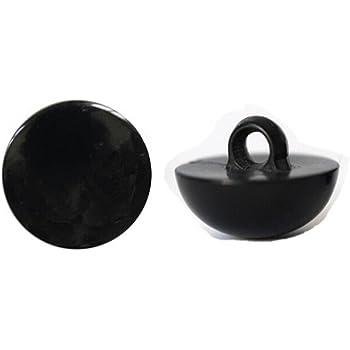 Black Eye Button Coat Button Scarpbook Embellishment Craft Decoration CHENGYIDA 100-PACK 21mm Sew on Glossy Black Shank Acrylic Button Bear Doll Nose Eyes