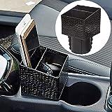 Best Consoles de poche - Porte-gobelet en cuir pour voiture FancyAuto Console de Review