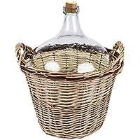 Weinballon im Korb10 l/25 l Glasballon 10 l/25l+ 1 x Korkstopfen (10L)