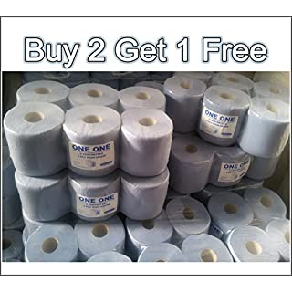 BUY 2 GET 1 FREE - 6 Blue Roll Centrefeed 2 Ply Tissue Kitchen Roll Cleaning Wiper Paper Towel