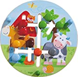 HABA 301696 - Motorikbrett Bauernhof-Welt