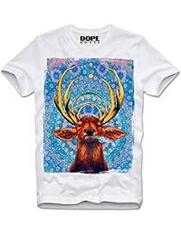 DOPEHOUSE T-Shirt Camiseta DEER STAG TRIPPY HIPSTER SWAG MDMA LSD XTC ECSTASY RAVE