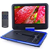 """ieGeek 11.5"""" Portable DVD Player with Game Joystick, 360� Swivel Screen, 5 Hour Rechargeable Battery, Support USB/SD Card, Directly Play AVI/RMVB/MP3/JPEG, Blue"""