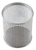 Stifteköcher / Stiftebecher / Farbe: silber / Durchmesser= 80mm / rund