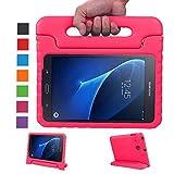 NEWSTYLE Samsung Galaxy Tab A 7.0 Kinder Hülle Eva Case mit umwandelbarer Handgriff Superleichte Stoßfeste Schutzhülle Tasche Cover für Samsung Galaxy Tab A 7 Zoll SM-T280/T285 - Rosa