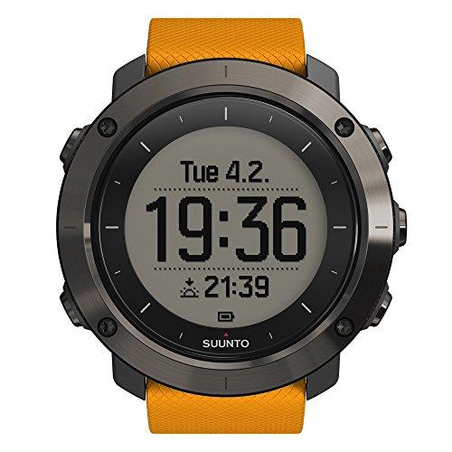 Suunto TRAVERSE - Reloj GPS de exterior para excursionismo y senderismo, hasta 100 horas de batería, sumergible, color ámbar