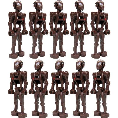 LEGO Star Wars Figur: kleine Armee mit 10 Stück Commando Droid (aus Bausatz 9488) mit Blastern (Lego Star Wars Armee)
