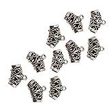 Sharplace 10pcs Tibetano Argento Tubo Di Perline Perline Intagliato Distanziatore Perlina Pendente Pendaglio