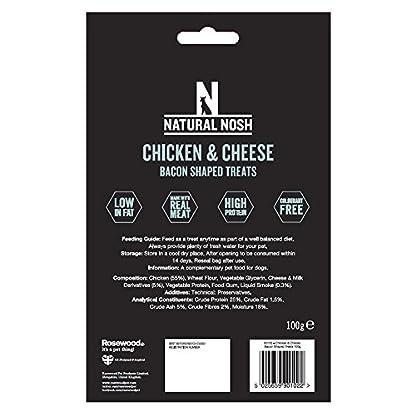Natural Nosh Dog Treats - Chicken & Cheese Bacon Shaped Treats 100g 3