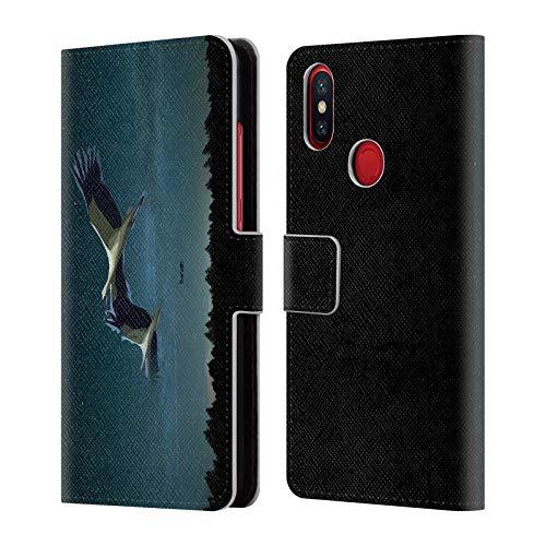 Head Case Designs Offizielle Zelko Radic Bfvrp Nacht Flug Voegel Leder Brieftaschen Huelle kompatibel mit Xiaomi Mi A2 / Mi 6X - A2 Leder-flug