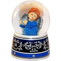 20028 Bola de nieve navidad ángel con musica medida 140 mm