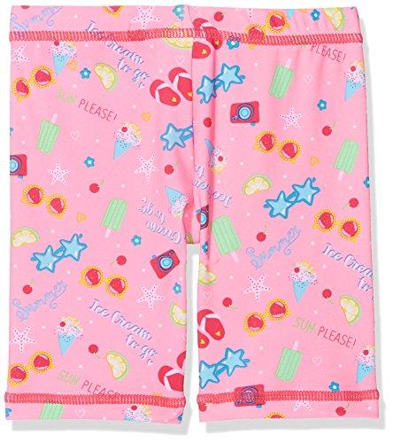 DIMO-TEX Sun Baby-Mädchen Badehose Baderadler UV-Schutz 50 Mehrfarbig (Pink, AOP Ice Cream) 80